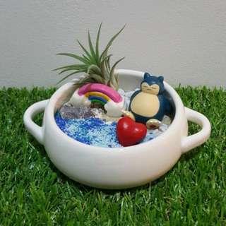 Pokemon Snorlax Air Plant rainbow love