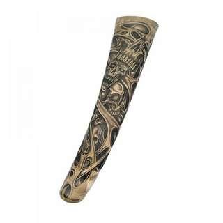Manset tangan pria motif tato tengkorak arm sleeve tatto