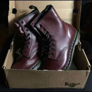 DR.MARTENS Boot Vegan 1461(Cherry Red)👢👢👉🏻代友放👈🏻
