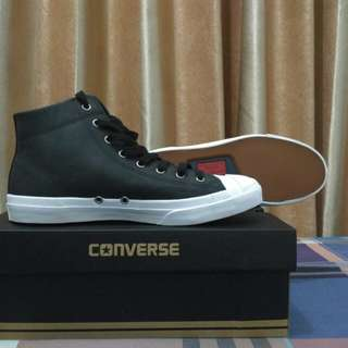 Converse Jack Purcell Leather High Black Original