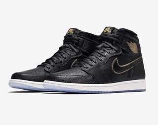 Jordan 1 Black And Gold 100% LEGIT