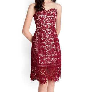 Midas Touch Dress In Wine Red