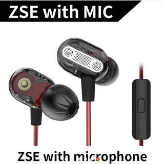 KZ ZSE Earphone With Mic