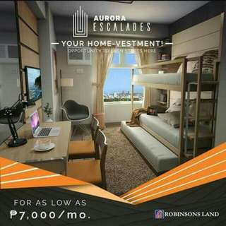 PROMO! PROMO! AFFORDABLE PRE-SELLING UNITS LOCATED AT CUBAO AS LOW AS 7K MONTHLY
