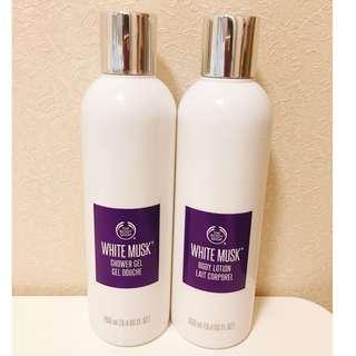 THE BODY SHOP WHITE MUSK SHOWER GEL & BODY LOTION 250ml 白麝香身體沐浴露及潤膚露