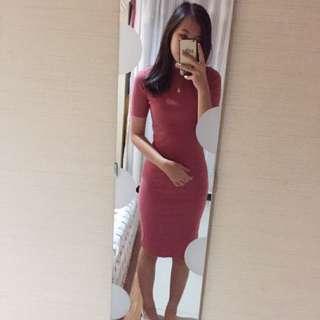 Pink Fit Body Dress