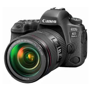 NEW Canon 6D Mark II Camera + Canon EF 24-105mm f4L IS II USM Lens