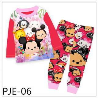 8Y-12Y Tsum tsum girl long sleeve pajamas