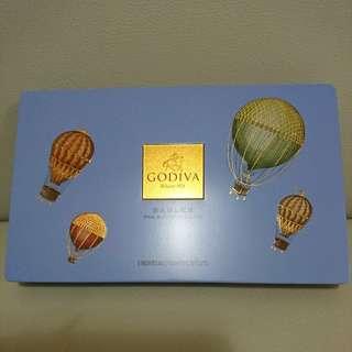 Godiva 精美鐵盒,約12cm X 20cm X 2cm