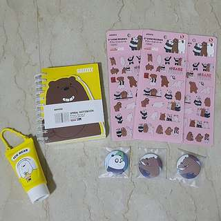 We bare bear items! While stocks last