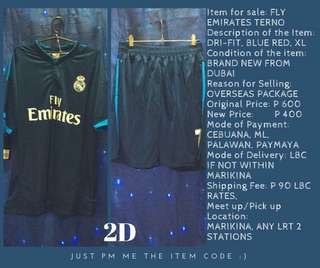 FLY EMIRATES TERNO DRI-FIT