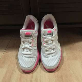 Nike lunarlon women's shoes running dynamic support white pink