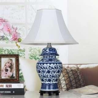BLUE WHITE TABLE LAMP - PRE ORDER