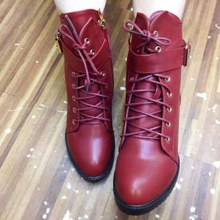 korean high cut style fashionable boots