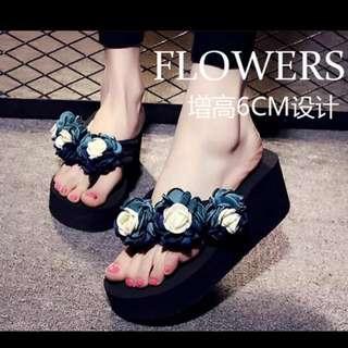 High Flat Heel Slipper