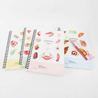 [NEW] Dinner Time Spiral Ruled Notebook B5