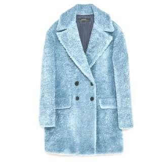 Zara Textured Coat with Lapels
