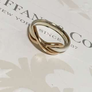 Mint Authentic Tiffany & Co. Infinity Ring Silver x Rose Gold