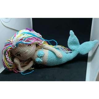Boneka Rajut Amigurumi Amigurumi Blanca The Mermaid