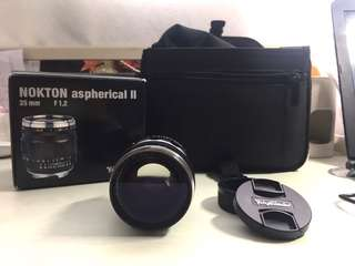 Voigtlander Nokton 35mm f/1.2 Aspherical II Prime Lens