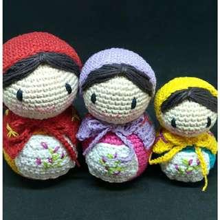 Boneka Rajut Amigurumi Matryoshka Set