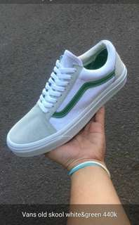 Vans Old skool white&green