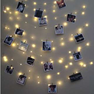 Rent portable LED Fairy Lights with gold thin wires powered by batteries - Rental only