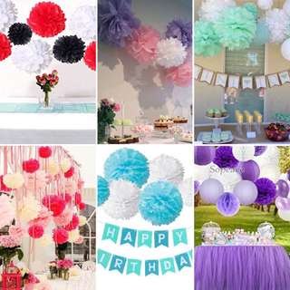 Party Backdrops Decoration Pom Pom paper