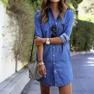 Jeans Dress Shirt