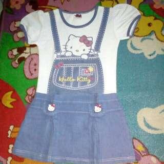 Dress anak hello Kitty original