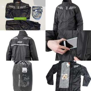 2802*** Givi Raincoat RRS04 Black & Red 🤣🤣Thanks To All My Buyer Support 👌👌
