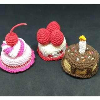 Boneka Rajut Amigurumi Mini Cake Set