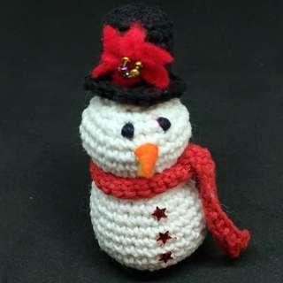 Boneka Rajut Amigurumi Snowman
