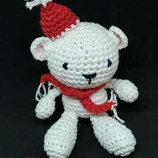 Boneka Rajut Amigurumi Polar Bear