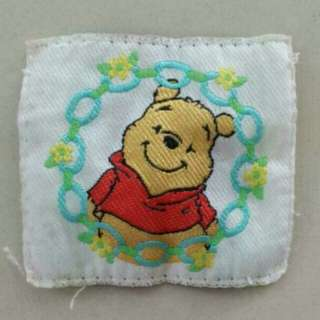 FREE NM📬Authentic Disney Winnie The Pooh Embroidered Fabric Tag