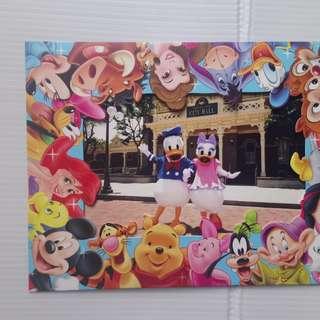 香港迪士尼樂園硬咭紙相架連唐老鴨相片