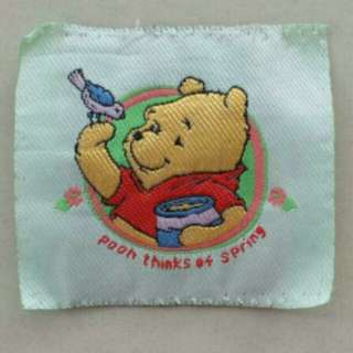 #Blessing📬Authentic Disney Winnie The Pooh Embroidered Fabric Tag