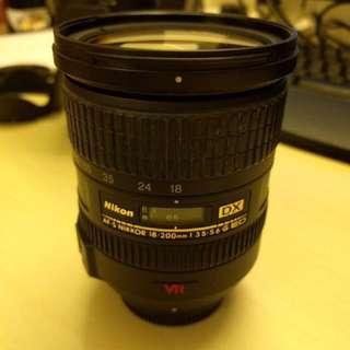 Nikon 18-200mm VR lens F/3.5-5.6