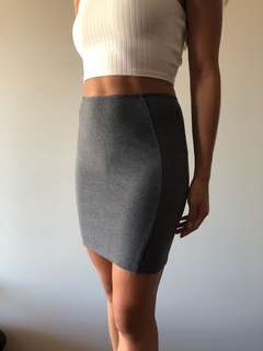 SUPRE - Fitted Grey Skirt