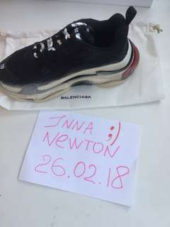 Balenciaga Triple S black and white In Stock
