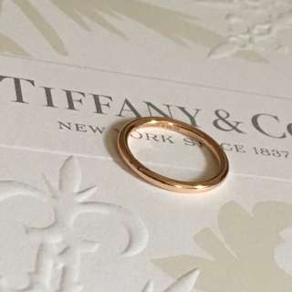 Mint Retired Authentic Tiffany & Co. Bezet Rose Gold 750 Ring 3.5 RG 18K Comfy