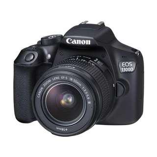 NEW Canon 1300D Camera + Canon 18-55mm EF-S f3.5-5.6 III Lens