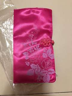 Chinese style make up pouch