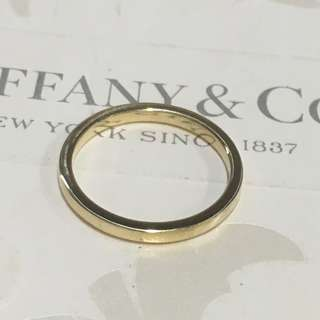 Mint Authentic Tiffany & Co. Flat Wedding Yellow Gold 750 Band Ring 18K