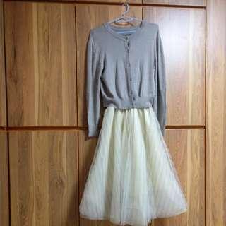 兩件可分開 外套+紗裙