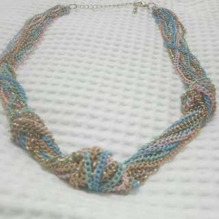 Colourful chain necklace