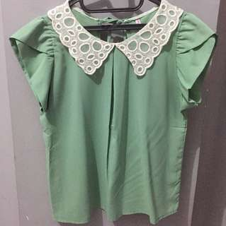 Green Women Top