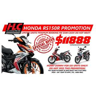 NEW Honda RS150R RS150 Promotion!