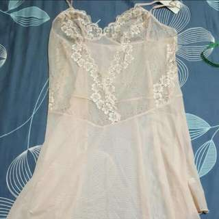 Lace Lingerie under layer dress very Light nude beige color