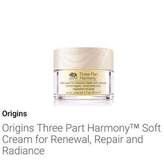 ❗️FREE NM❗️5ml * Origins Three Part Harmony™ Soft Cream for Renewal, Repair and Radiance